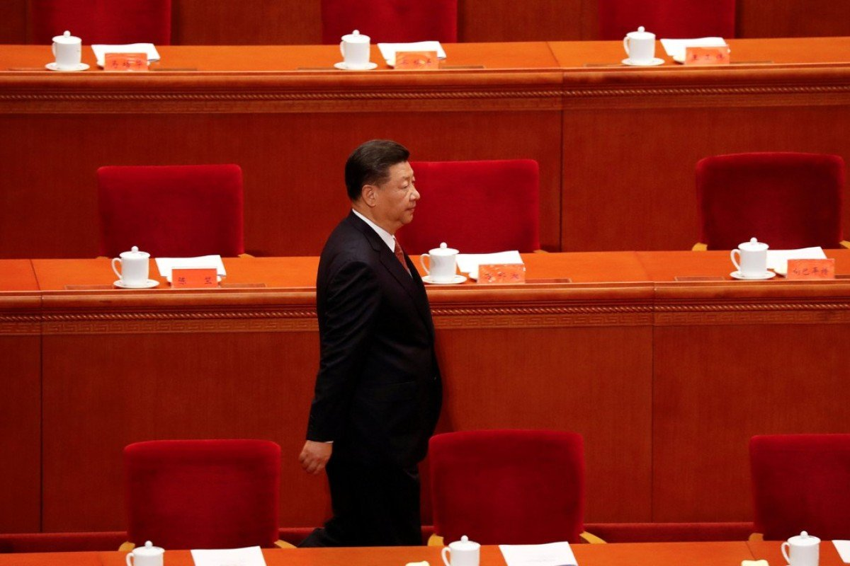 China's President Xi Jinping arrives for a ceremony to mark the 90th anniversary of the founding of the People's Liberation Army at the Great Hall of the People in Beijing, China. Photo: Reuters