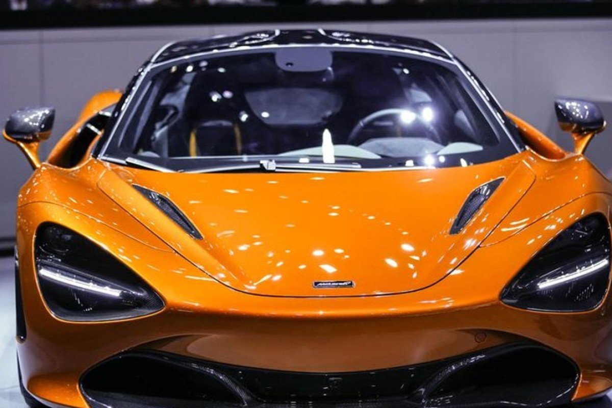 A McLaren 720S at the 2017 Geneva International Motor Show.
