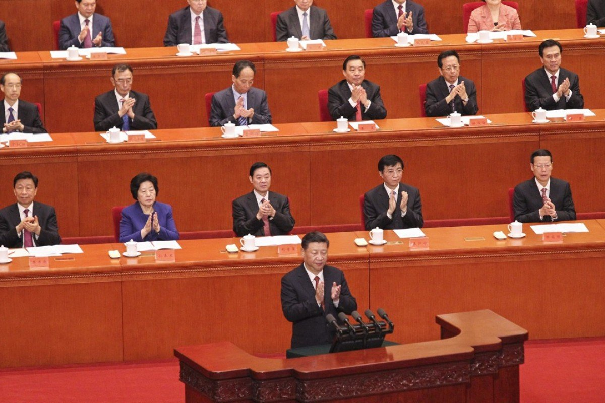 Chinese President Xi Jinping delivers a speech at the Great Hall of the People in Beijing. Photo: Simon Song