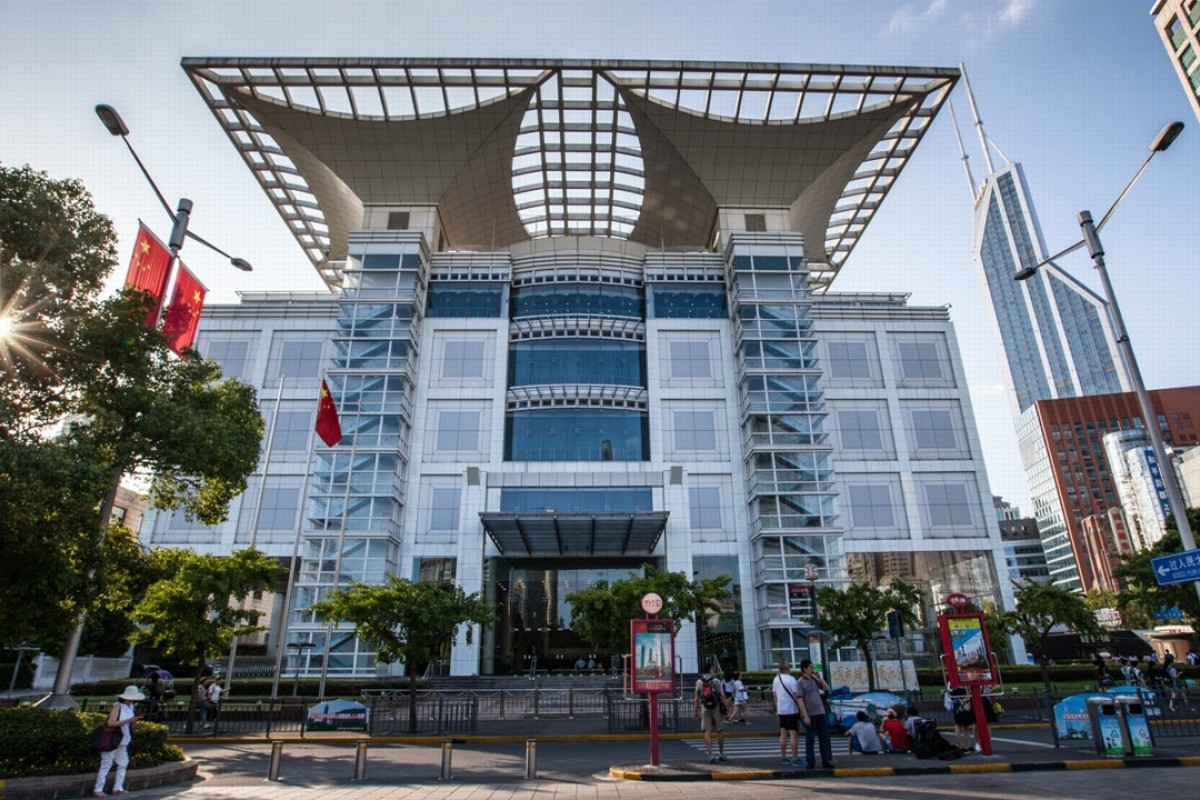 The Shanghai Urban Planning Exhibition Centre, as viewed from People's Square. Picture: Valerie Teh