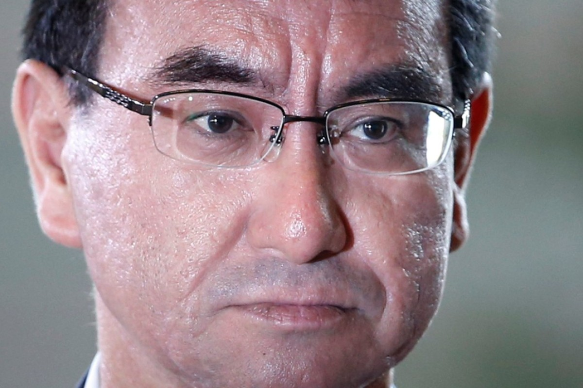 Japan's new foreign minister, Taro Kono. Photo: Reuters