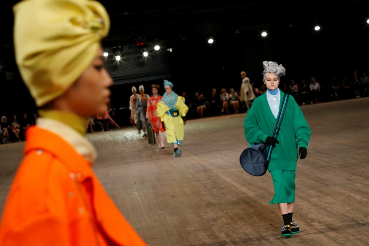 Models present creations from Marc Jacobs spring/summer 2018 collection during New York Fashion Week. Photo: REUTERS