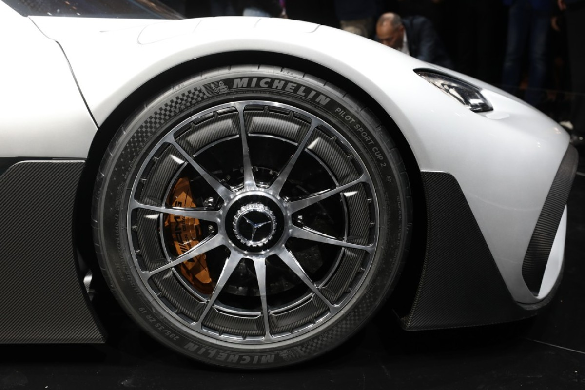 A Mercedes-Benz AMG Project One hypercar ahead of the Frankfurt Motor Show. Photo: Bloomberg