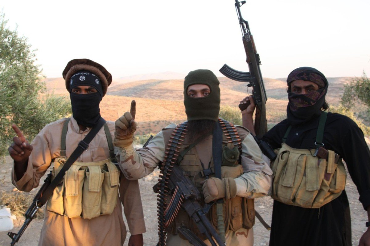 Frontline Isis militants. Picture: Alamy