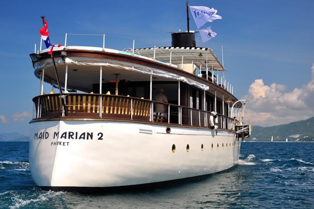 Among the quirky getaways offered is this luxury yacht in Phuket.