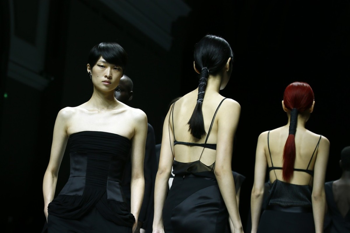 Models wear creations for Lanvin's spring-summer 2018 ready-to-wear fashion collection. Photo: AP