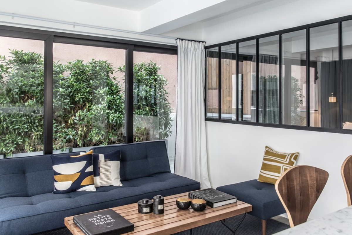 The open-plan apartment on Shelley Street designed by Peggy Bels. Photography: Eugene Chan
