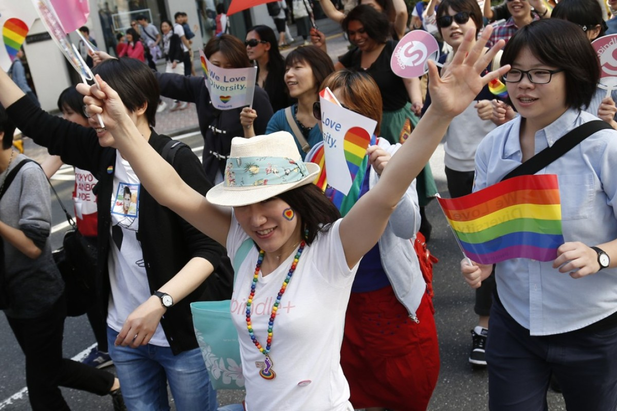 The Tokyo Rainbow Pride parade celebrates lesbians, gays, bisexuals and transgender (LGBT) people. Photo: Xinhua