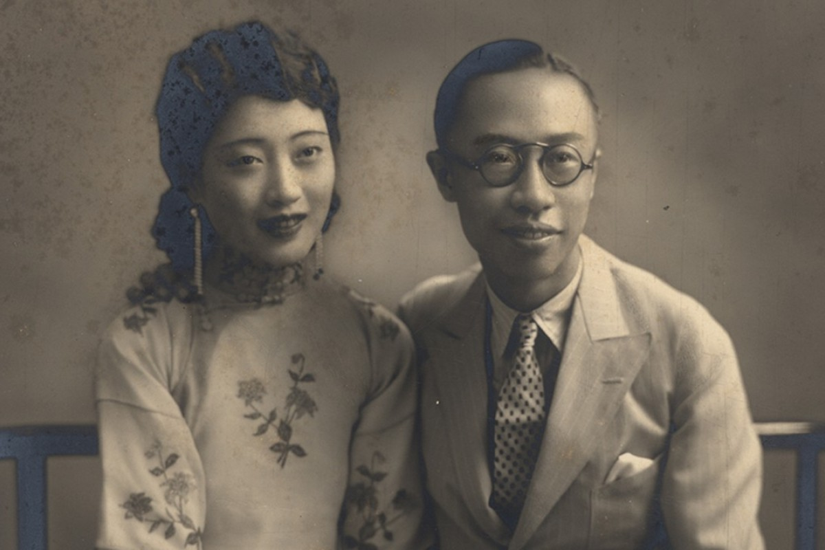 Empress Wanrong (left) and Puyi.