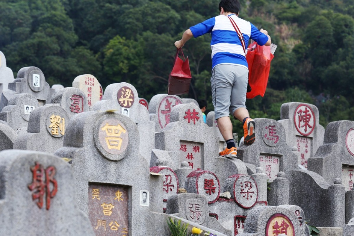 Grave sweeping at Diamond Hill Cemetery in Kowloon for Chung Yeung Festival. Other aspects of the festival have been forgotten. Picture: Nora Tam