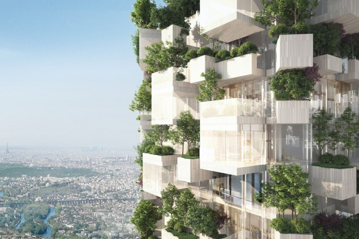 Paris is getting a 'White Forest' tower block covered with 2,000 trees, plants and shrubs. Photo: Stefano Boeri Architetti