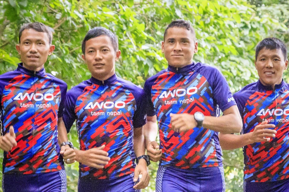 AWOO Team Nepal (from left) Purna Tamang, Tirtha Tamang, Samir Tamang and Bed Sunuwar are focused on coming first. Photo: Claus Rolff
