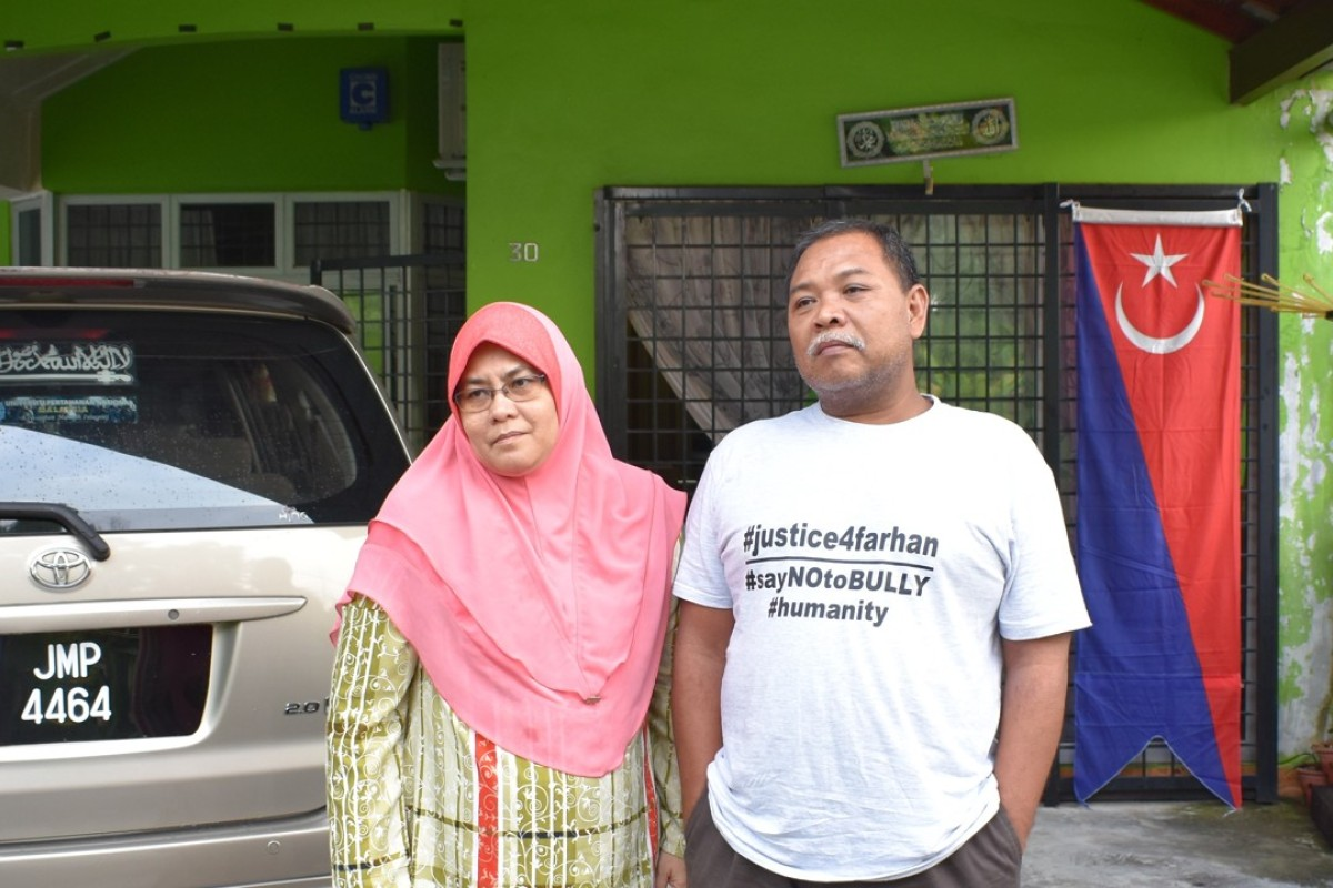 Hawa Osman, 54, and Zulkarnain Idros, 53, are determined to attend all court sessions to find the truth about their son's death. Photo: Handout