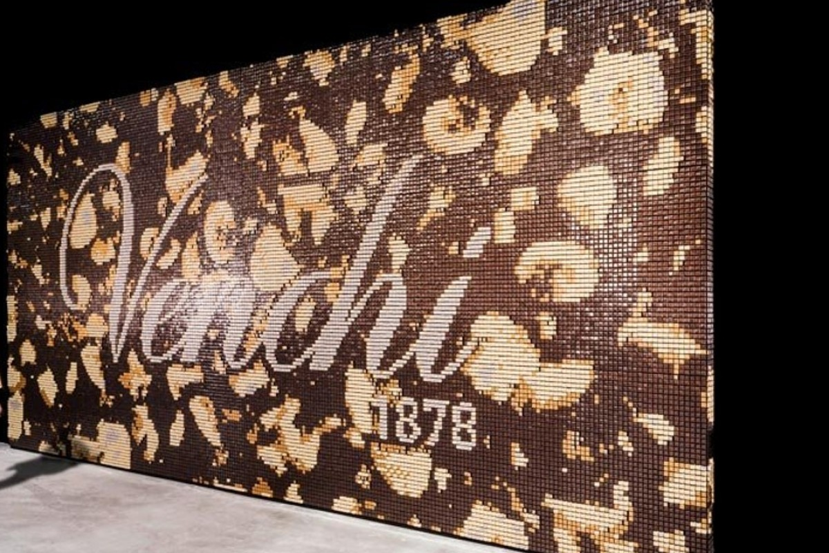 An Italian architectural firm has created a building at Fico Eataly World, a new Italian theme park in Bologna, out of 30,000 chocolates.