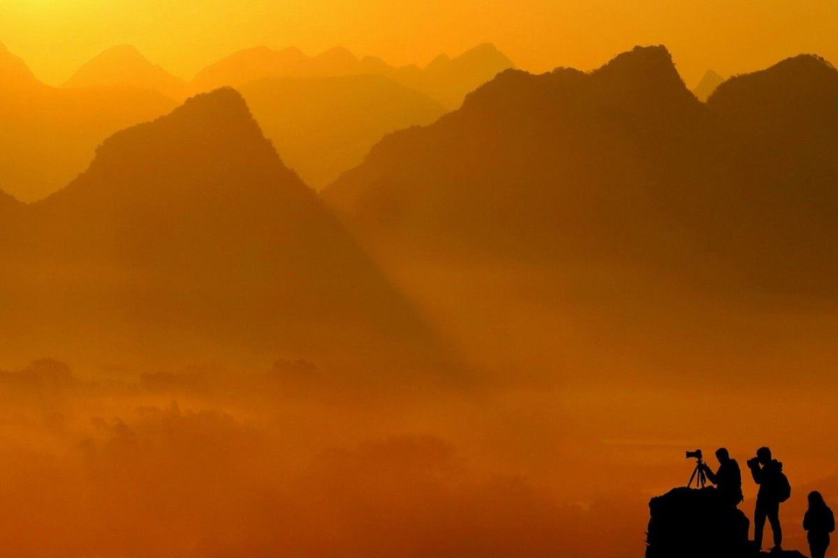 Yangshuo is the most popular international rock climbing destination within China, says Andrew Hedesh's new book. Photo: Xinhua