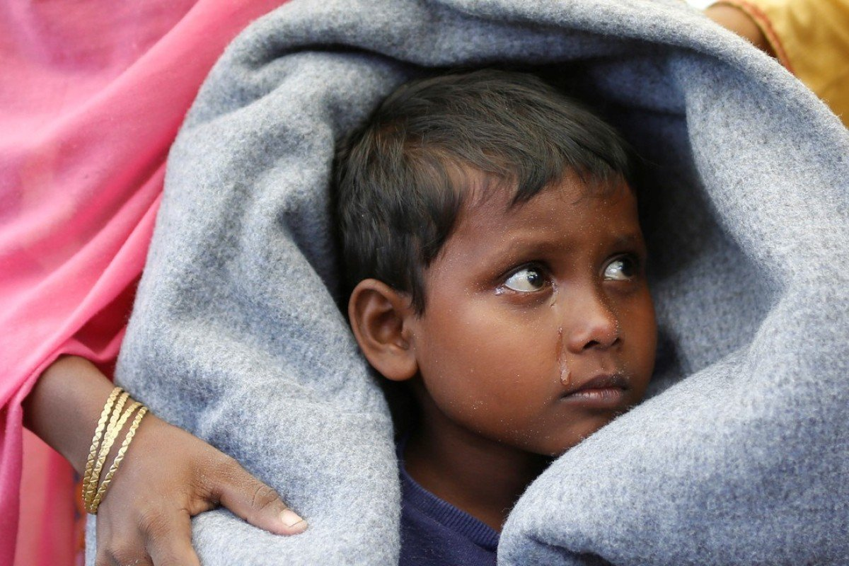 A Rohingya refugee boy on the way to Cox's Bazar, Bangladesh. Photo: Reuters