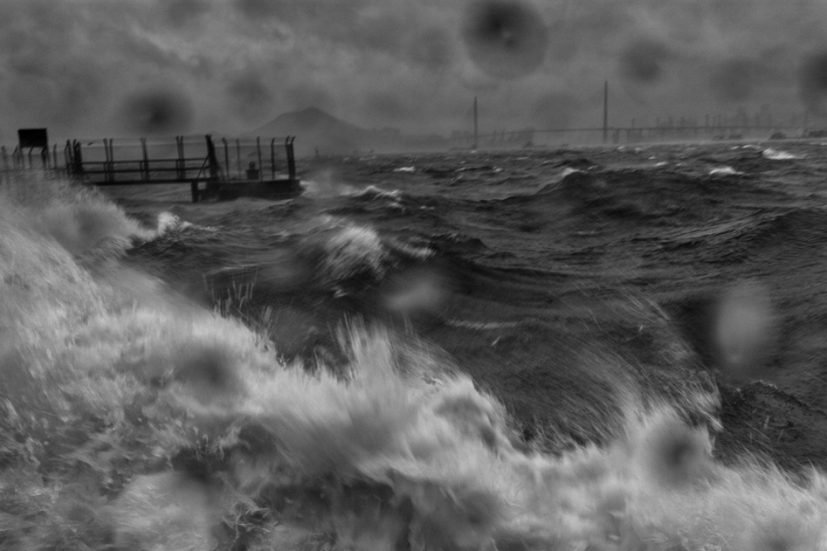A T-10 storm batters Hong Kong, captured by photographer Palani Mohan and featured in his latest book, Wind, Water.