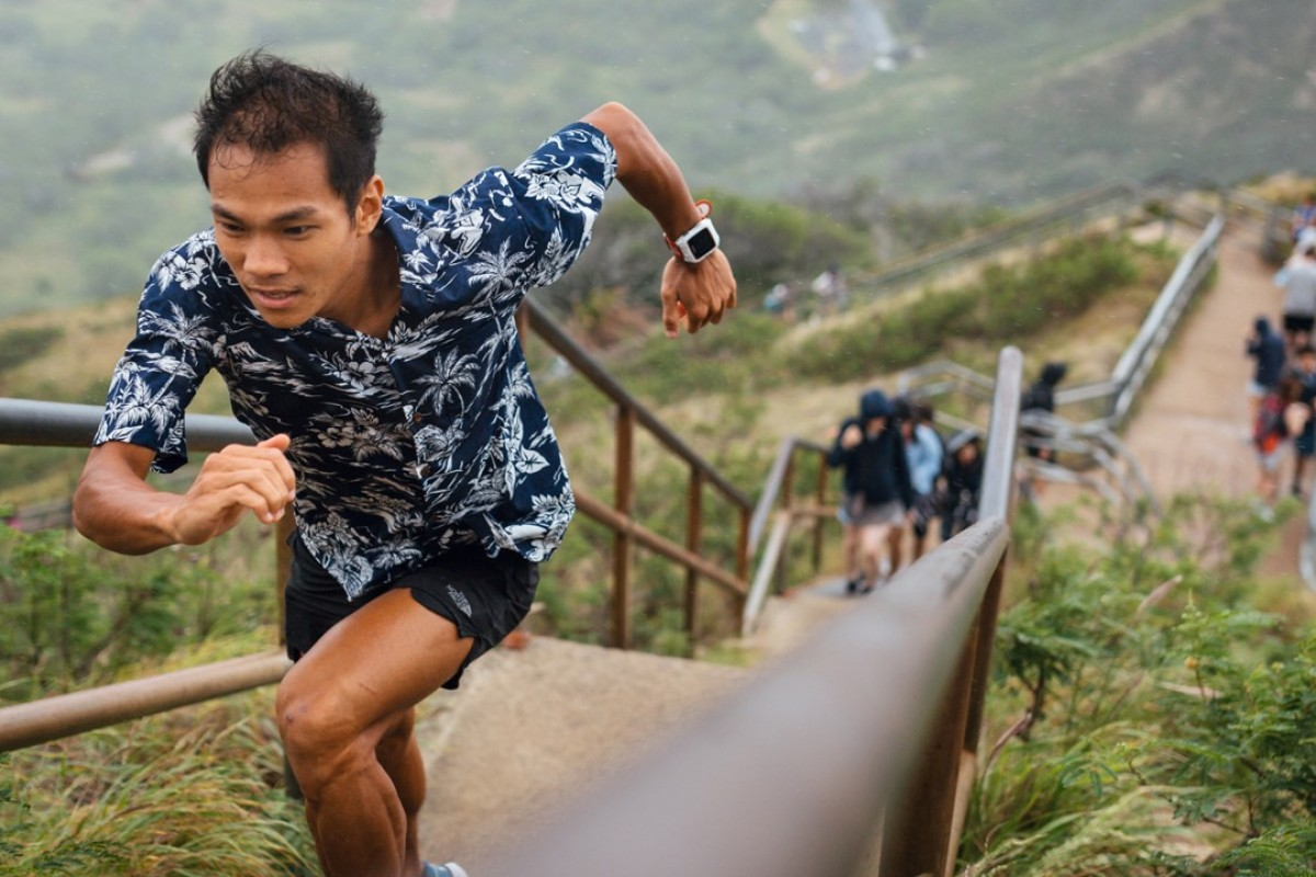 Wong Ho-chung leaves it until the final climb to move up the rankings. Photo: Guillem Casanova Photography