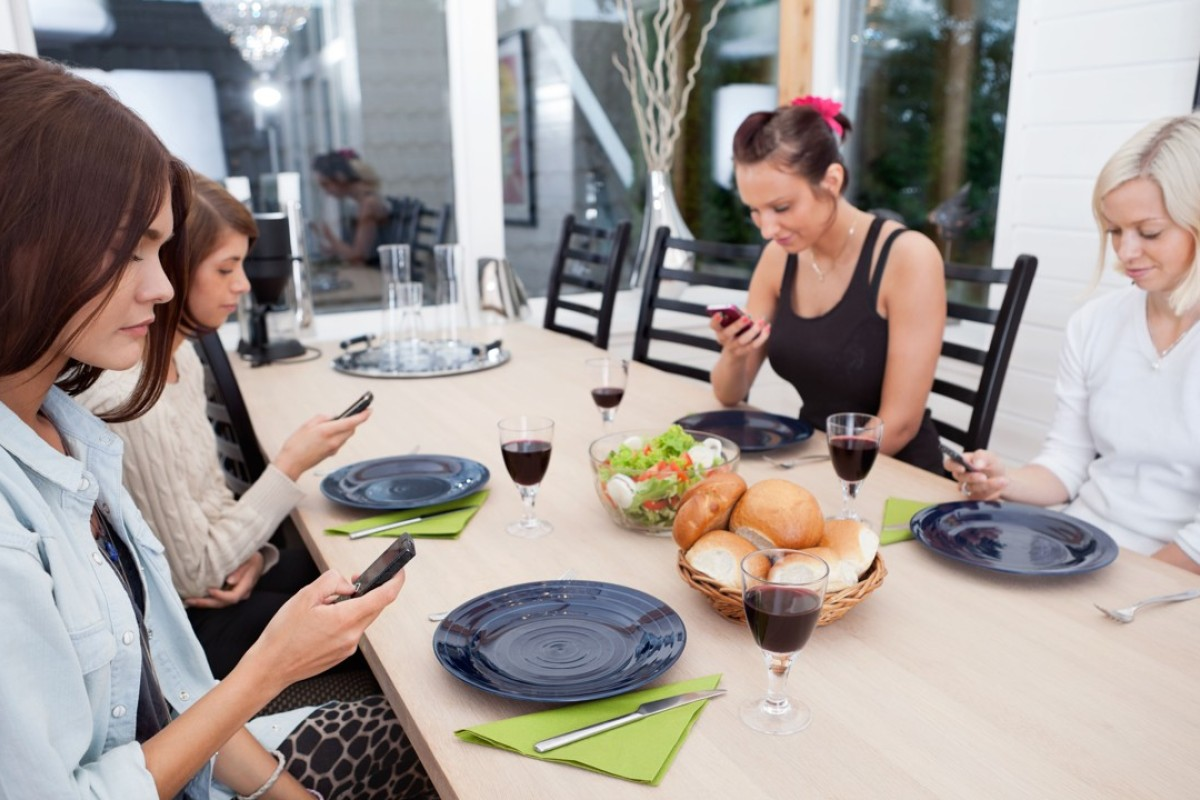 Ladies who lunch check on the females they follow on social media. Picture: Alamy