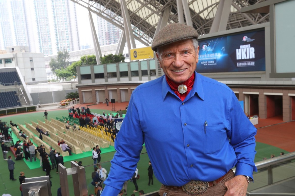 Horse whisperer Monty Roberts at Sha Tin on Thursday. Photos: Kenneth Chan.