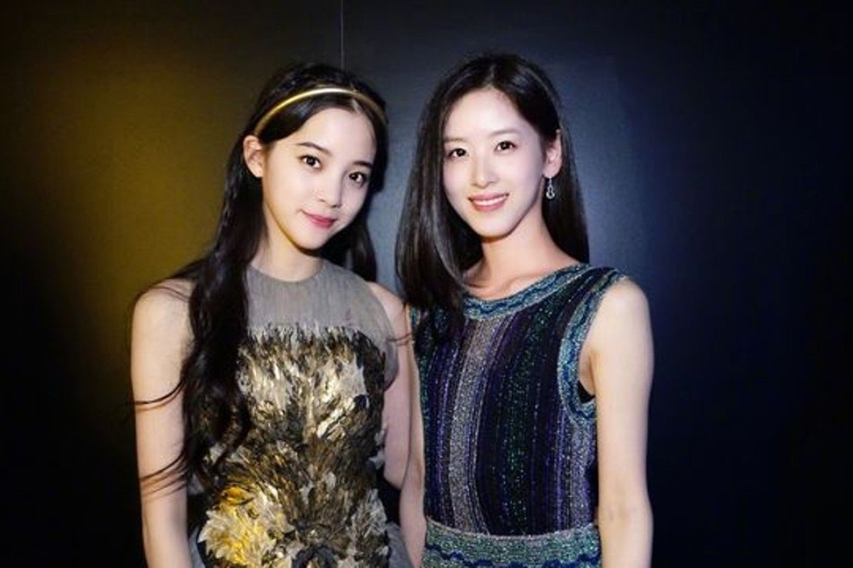 "Nana Ou-yang (left) and Zhang Zetian, China's youngest female billionaire, attend the 2018 Breakthrough Prize award ceremony. This photo has gone viral on Weibo with over 3 million searches. ""It's rare to have two goddesses in the same photo,"" one Weibo user commented. Netizens are comparing the beauty of the two young ladies."