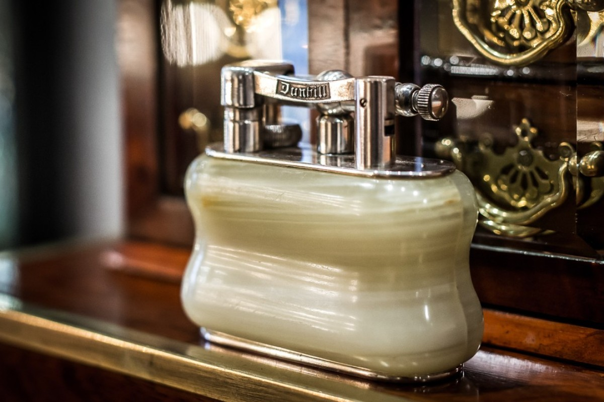 A 1920s onyx Dunhill lighter. Photo: Timothy Oulton