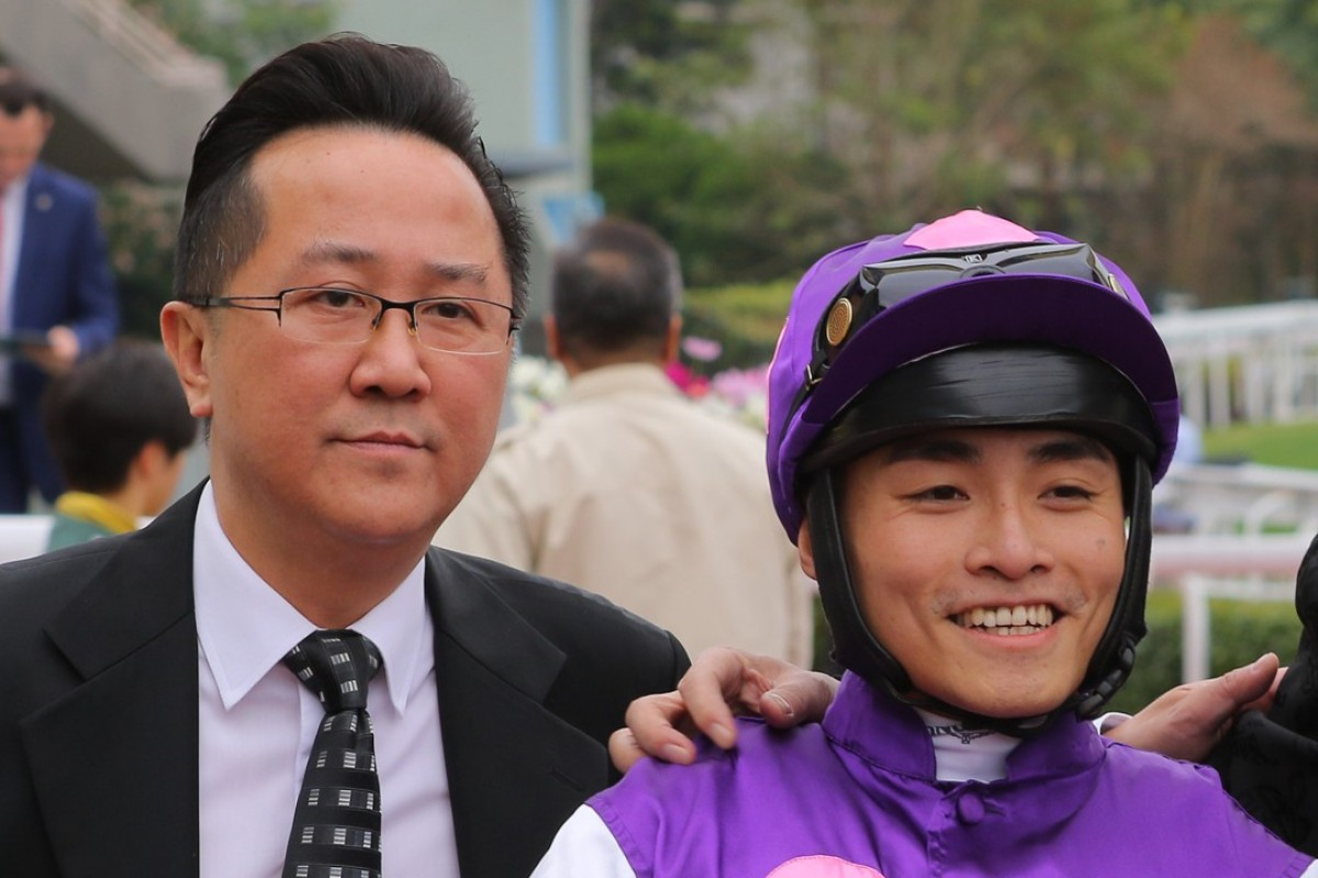 Almond Lee with Keith Yeung after Sum Win Dragon's victory. Photos: Kenneth Chan