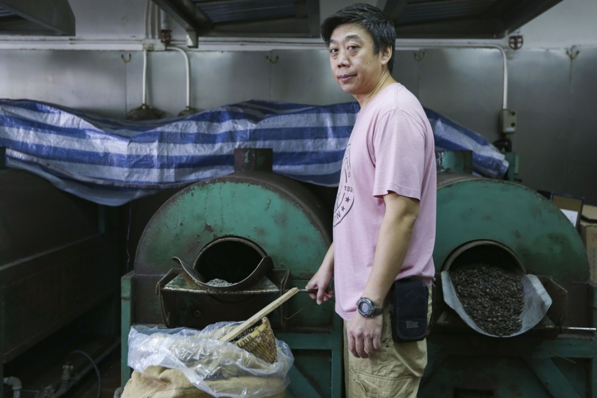 Sunny Luk, of Shanghai Luk's Dynasty of Melon Seeds, in his Kwai Chung factory. Pictures: Xiaomei Chen