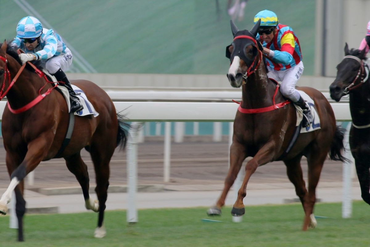 Conte cruises away to score another victory at Sha Tin on Monday. Photos: Kenneth Chan