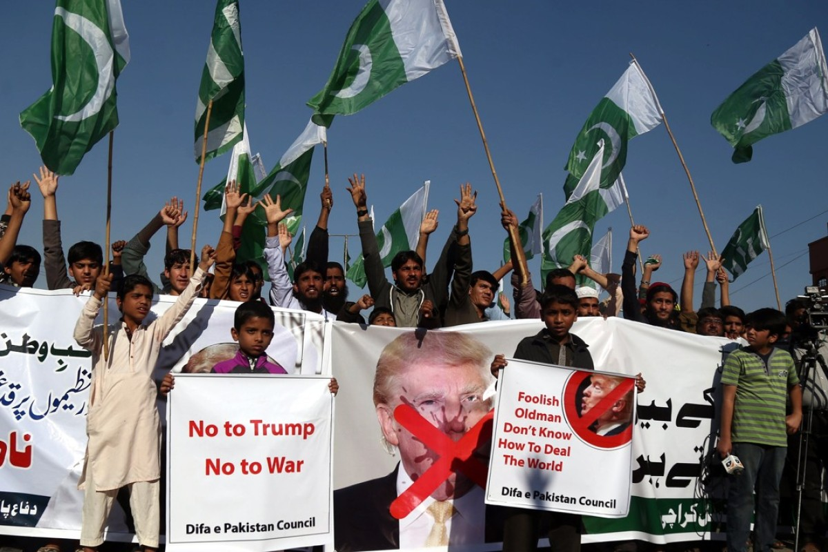Supporters of Jamat ud Dawa condemned Trump's tweet. Photo: EPA