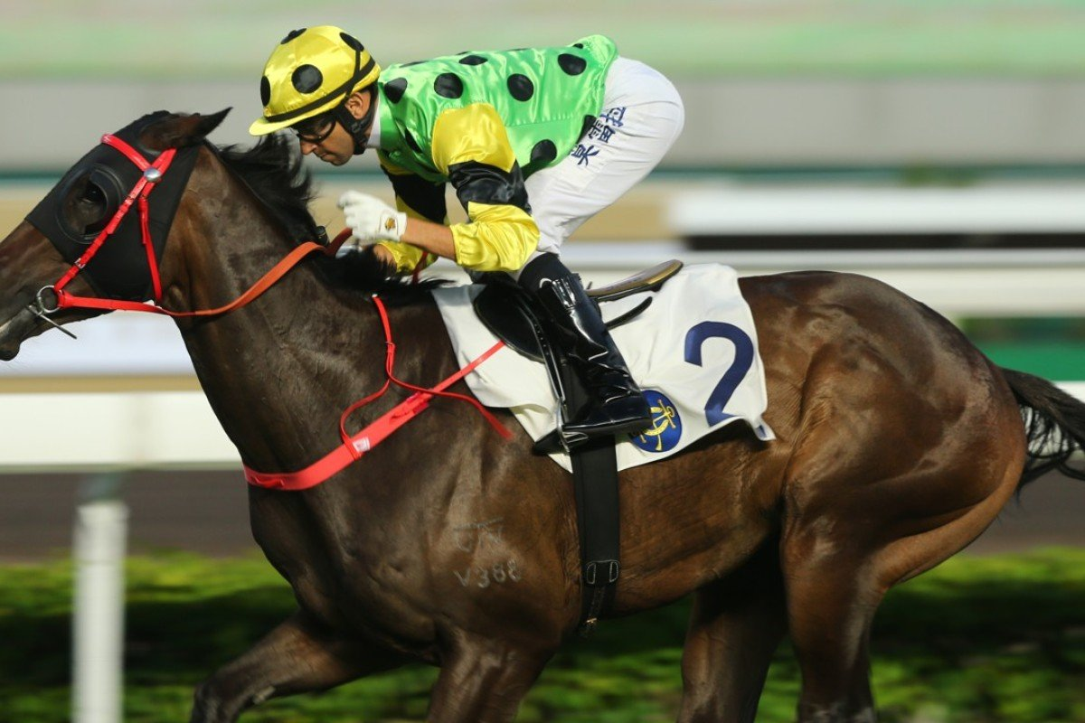 Joao Moreira guides Nothingilikemore to victory in October. Photos: Kenneth Chan