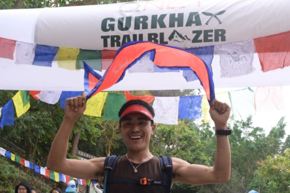 Gurkha Trailblazer winner Tenji Sherpa – the race celebrated Gurkha history, so a Nepalese victor was apt. Photo: Handout