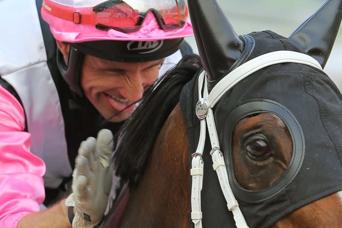 Neil Callan and Beauty Only after winning at Sha Tin in 2015. Photos: Kenneth Chan