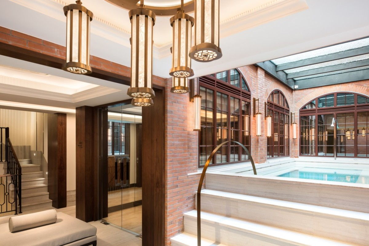 The Vitality Pool at the Capella Shanghai.