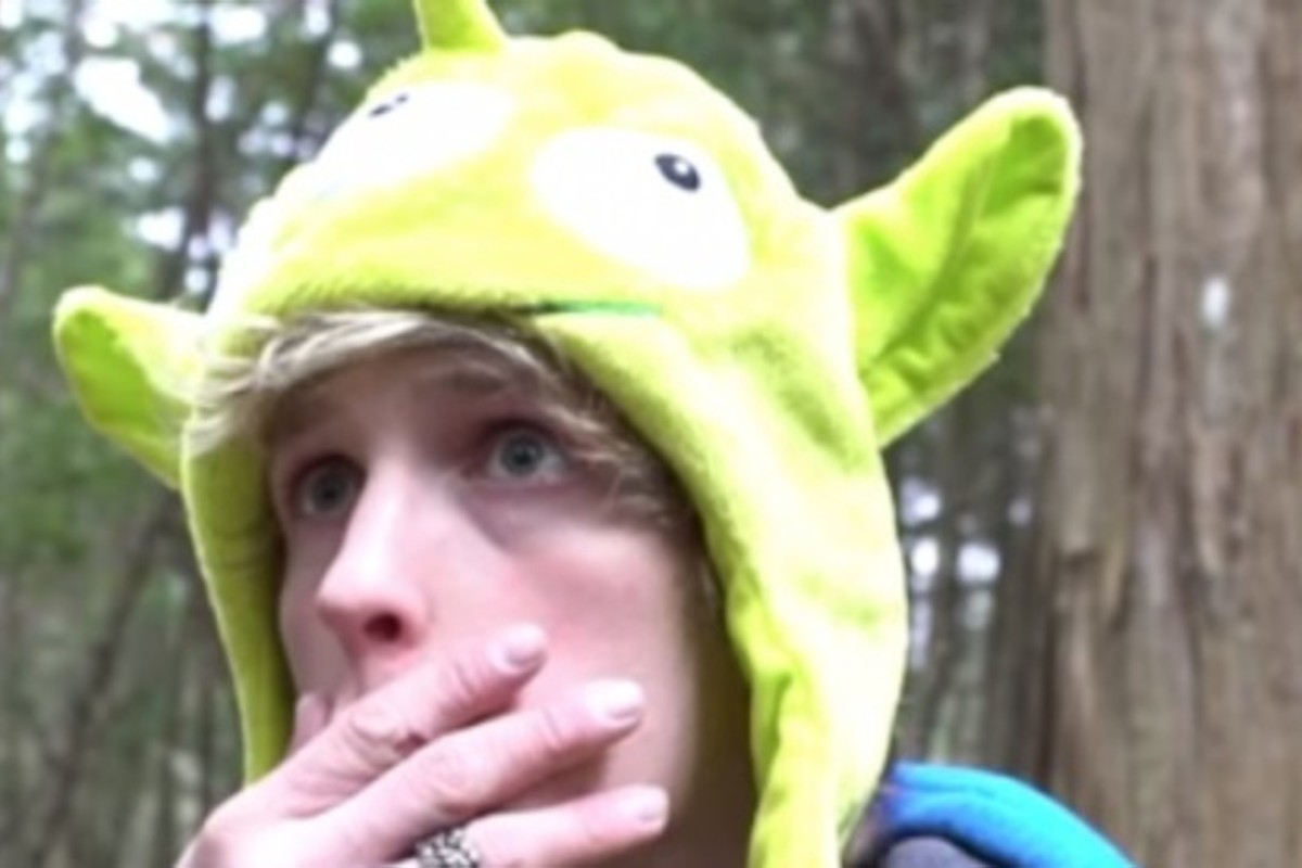 How youtube blogger logan paul stirred the ghosts of japans suicide a screen grab from logan pauls youtube video photo youtube reheart Image collections