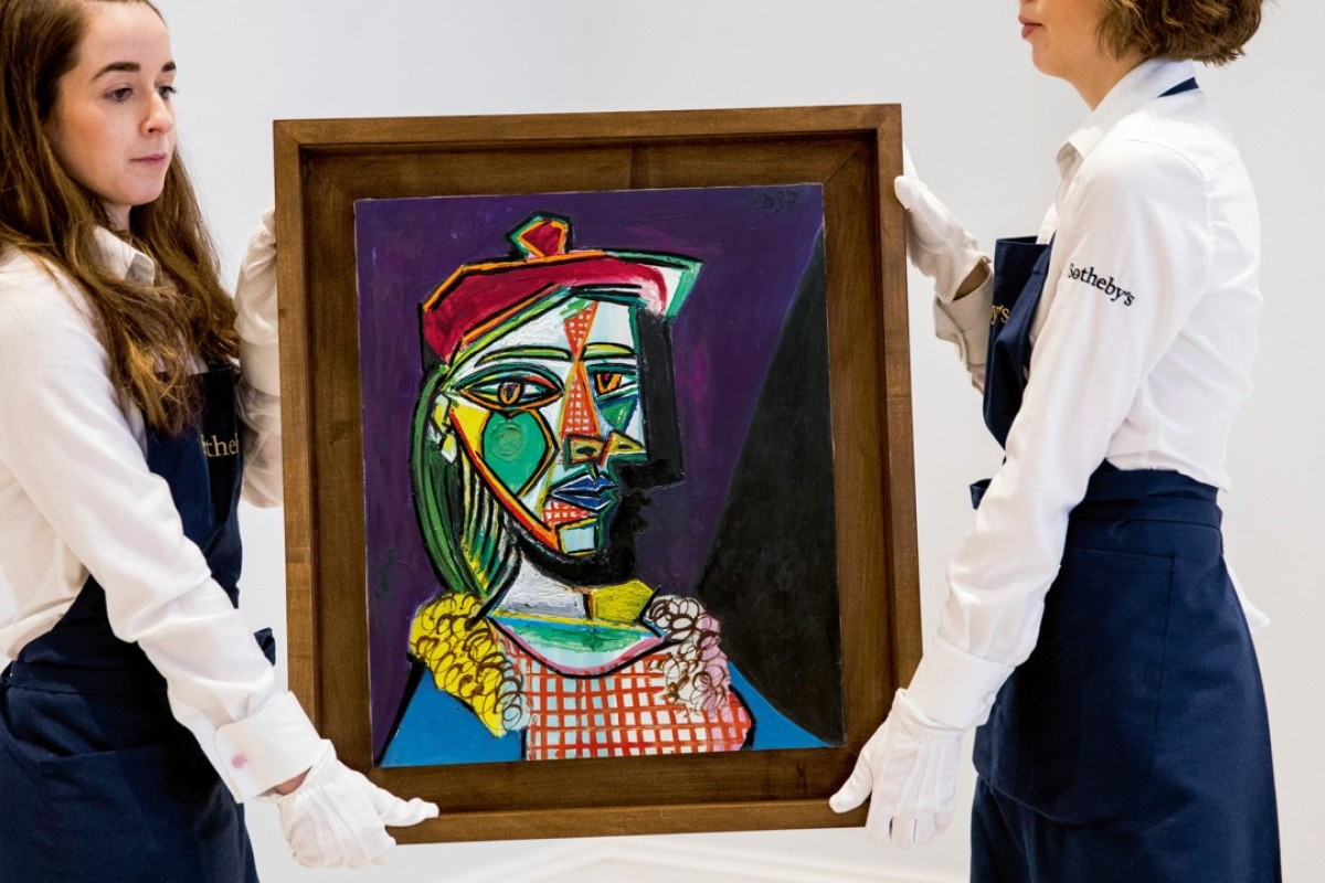 'Femme au béret et à la robe quadrillée (Marie-Thérèse Walter)' was on display in Hong Kong from January 30 to February 2. Photo: Sotheby's