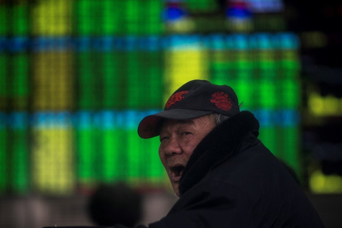 An investor in Shanghai. Photo: AFP
