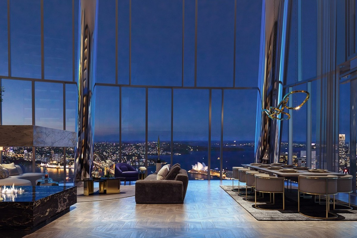 An artist's rendering of what the penthouse at One Barangaroo will look like.