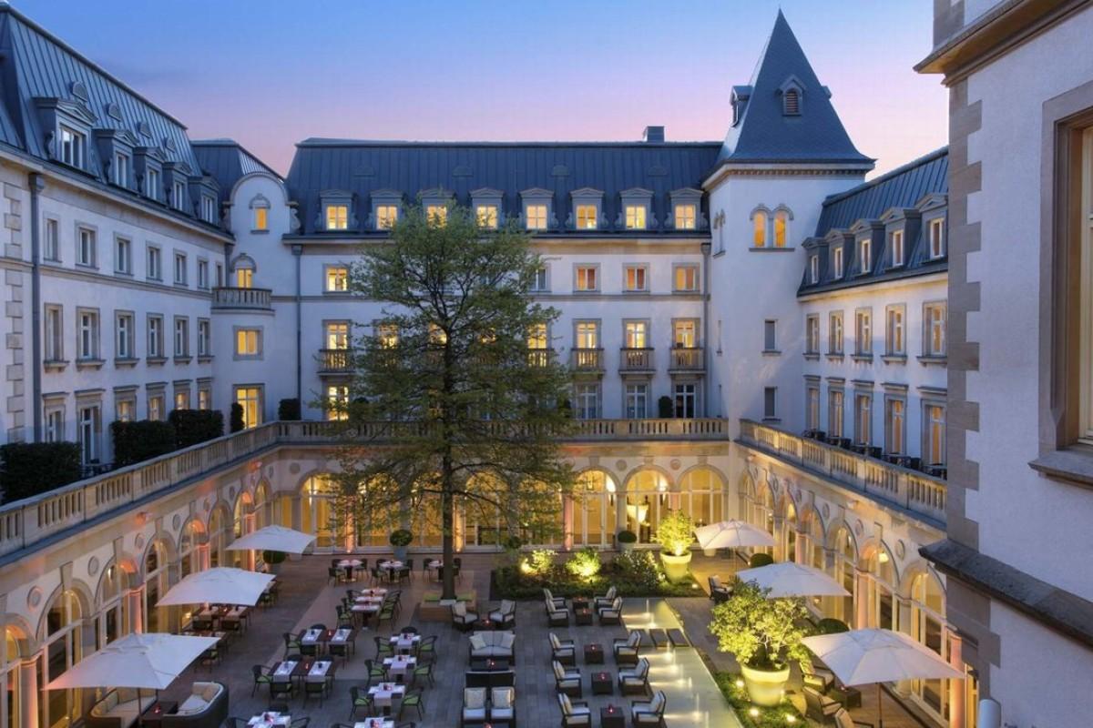 Twilight sets on Villa Kennedy in Frankfurt. Photo: Rocco Forte Hotels