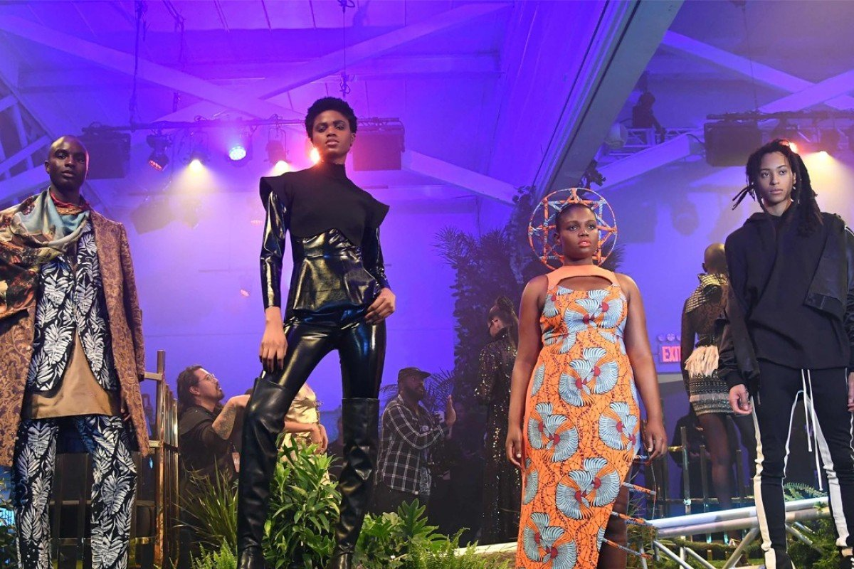 Models attend the 'Black Panther' event at New York Fashion Week. Photo: AFP