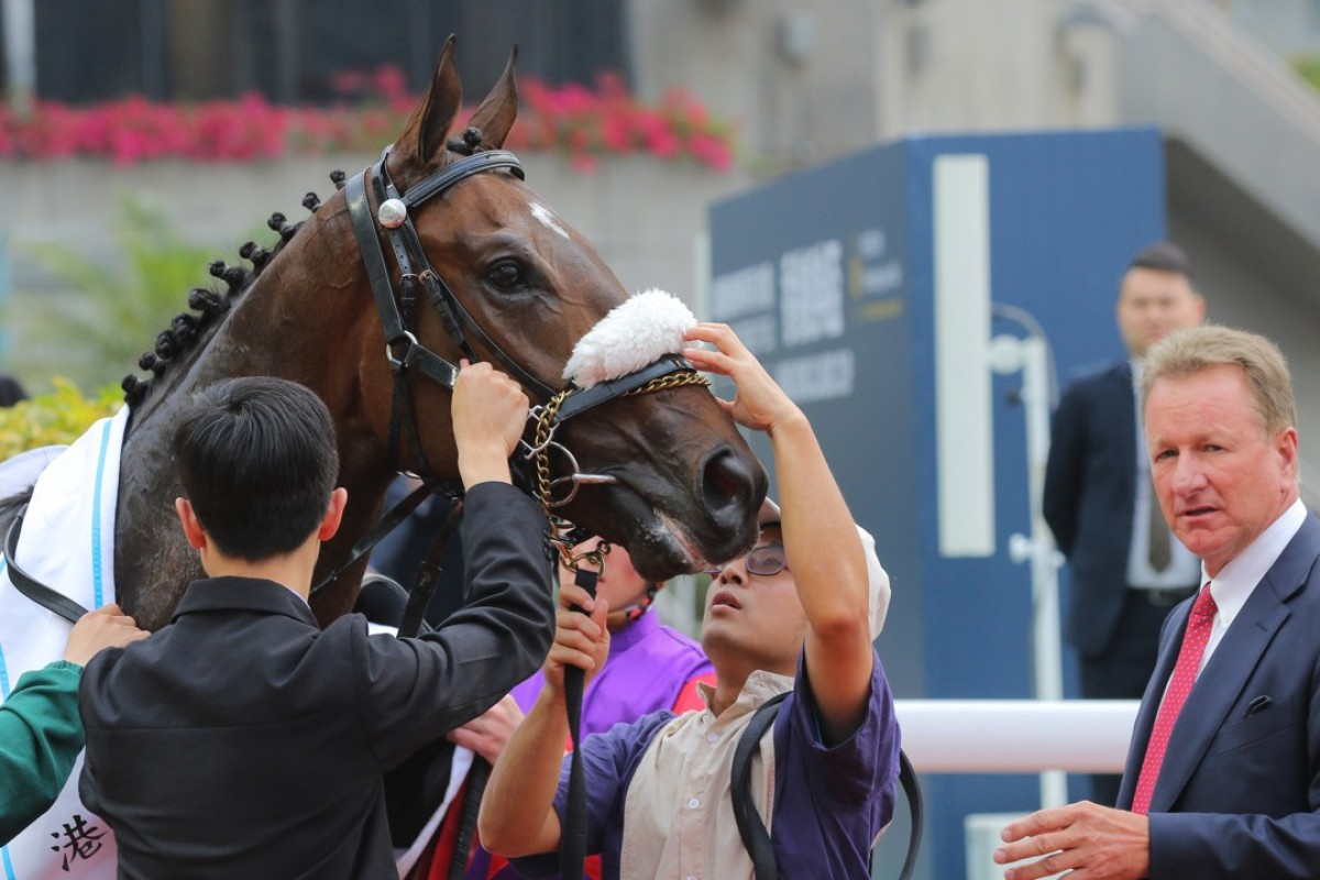 Singapore Sling and Tony Millard after the Classic Cup win. Photos: Kenneth Chan
