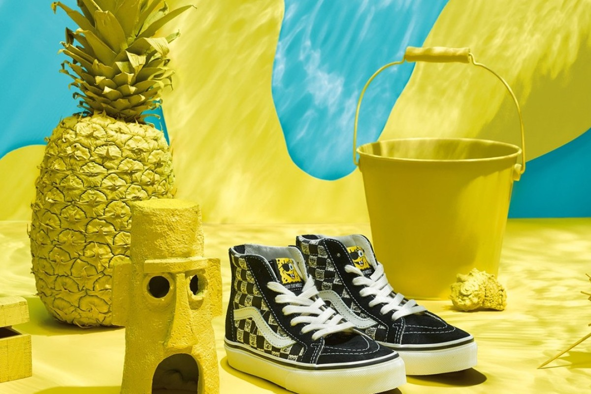 Leisure shoe company Vans has teamed up with the makers of the 'SpongeBob SquarePants' cartoon series on a collection of shoes, clothing and apparel. Photo: Vans