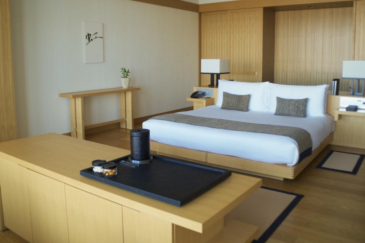 A premier room at Aman Tokyo.