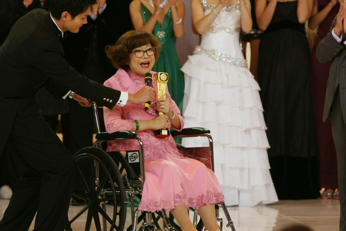 Shum appears on TVB's annual awards presentation at TVBCity in Tseung Kwan O in 2007.