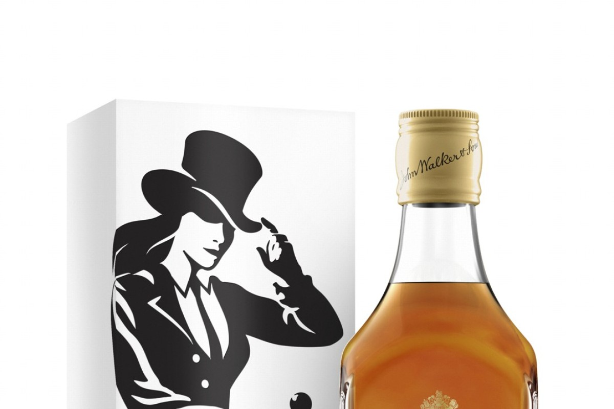 This undated product image provided by Johnnie Walker shows the Jane Walker edition of Johnnie Walker. Liquor maker Diageo says it plans to roll out bottles next month for a limited run. Diageo says it's the first time in the brand's nearly 200-year history that the logo has been depicted as a woman. Photo: Johnnie Walker via AP