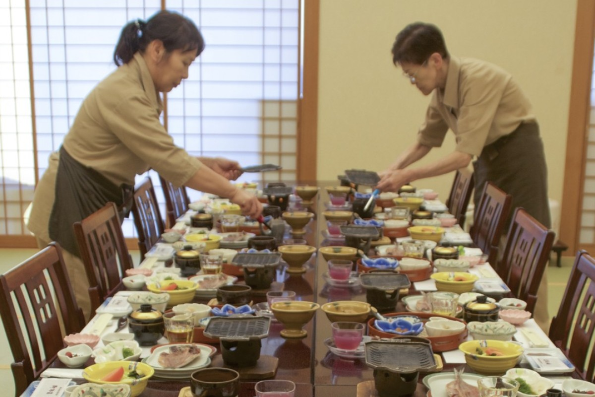 Dinner at a traditional inn, on Japan's Izu Peninsula. Pictures: Peter Neville-Hadley