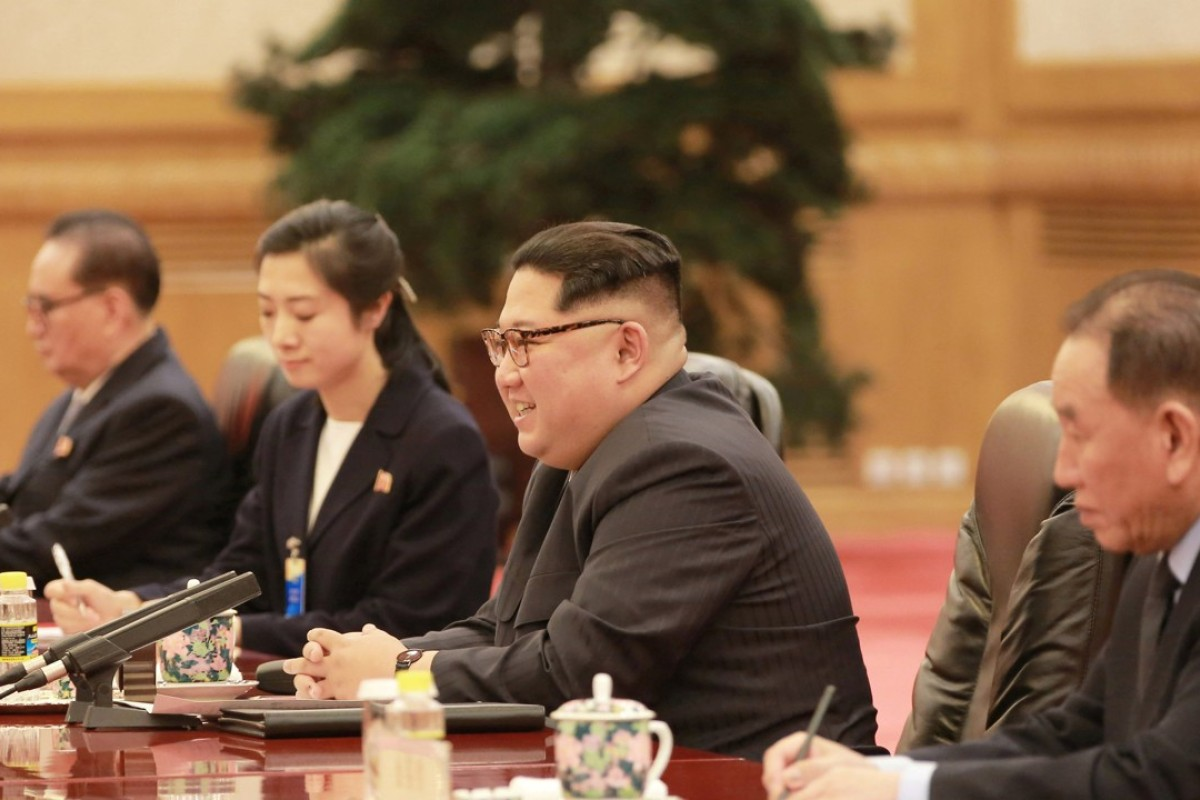 Much to smile about: Kim Jong-un in Beijing. Photo: Reuters