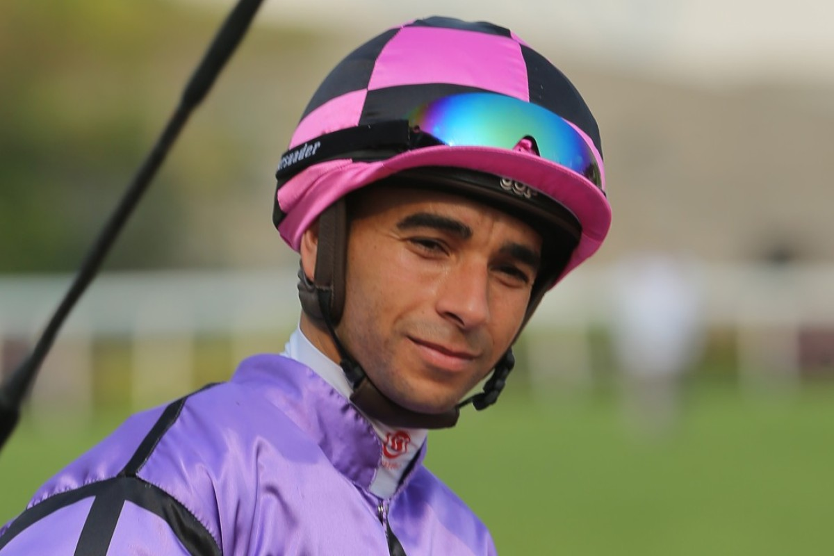 Joao Moreira after winning aboard What Else But You. Photos: Kenneth Chan