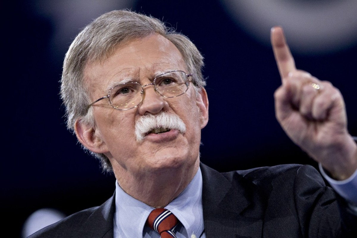 John Bolton has said American diplomacy with China has been too soft. Photo: Bloomberg