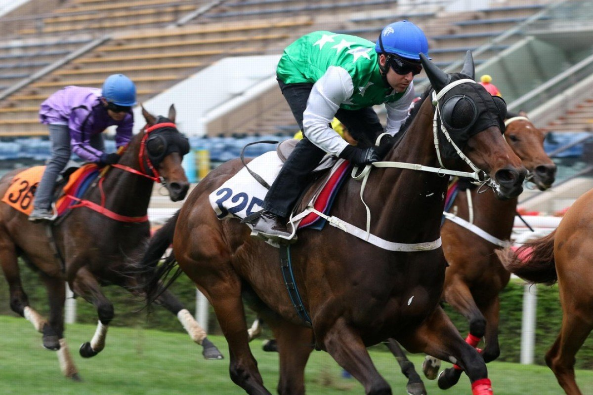 Pakistan Star (Tommy Berry) completes his trial at Sha Tin on Friday. Photos: Kenneth Chan
